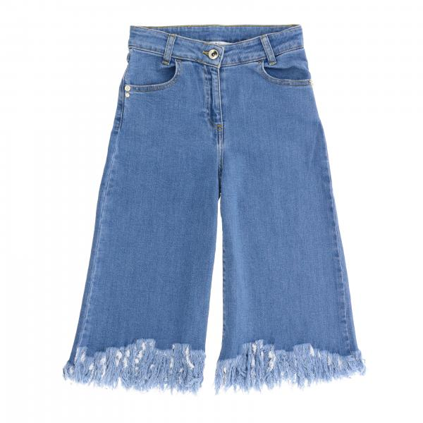 Patrizia Pepe wide jeans with frayed edges