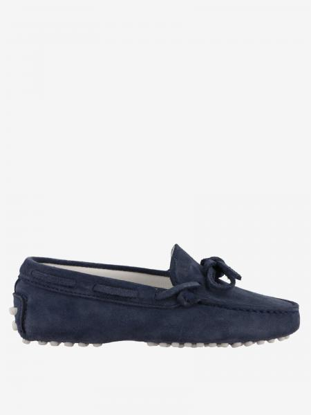 Tod's Gommini Drive moccasin in suede with laces