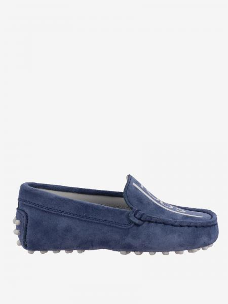 Tod's Gommini Drive moccasin in suede with logo