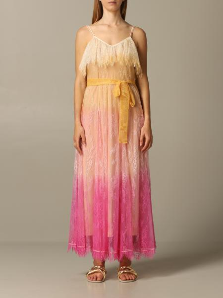 Twin-set dress in degradé lace