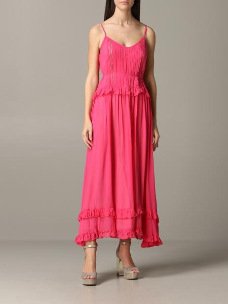 Long Twin-set dress with ruffles