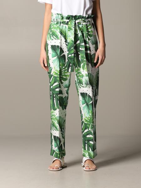 Twin Set 热带印花裤子