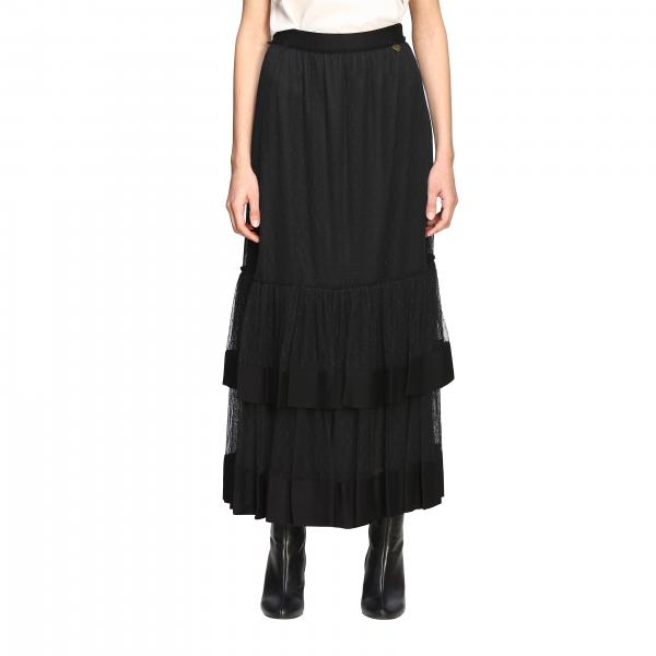 Long Twin-set skirt in point d'esprit tulle