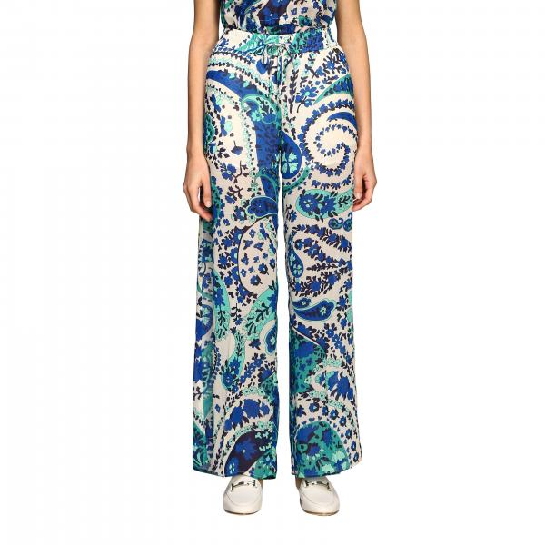 Twin-set trousers with paisley print