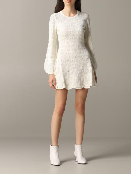 Twin-set short lace dress