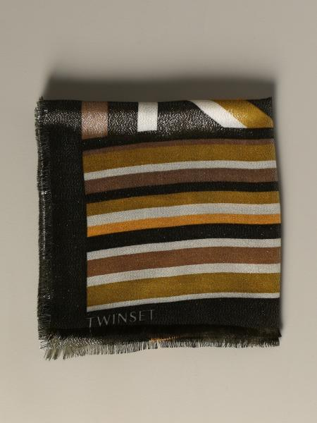 Twin-set scarf with lurex pattern