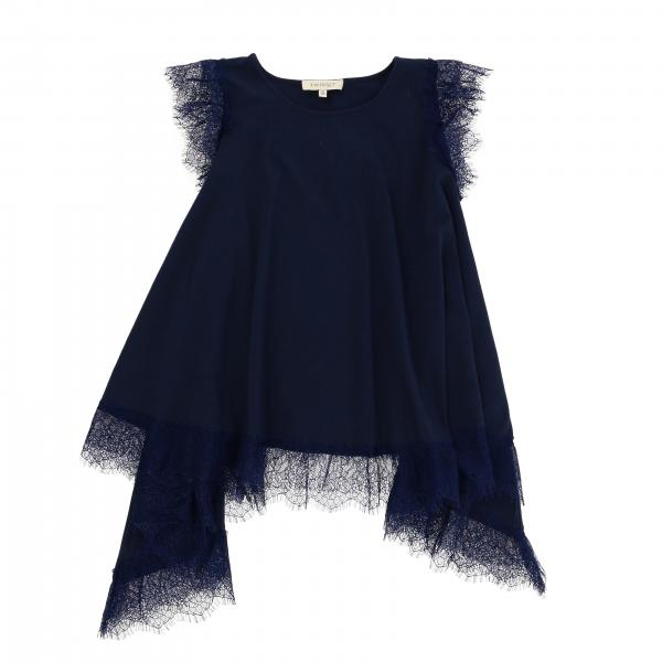 Twin-set top with lace edges