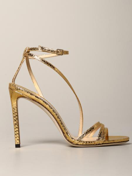 Heeled sandals jimmy choo tesca sandal in python print leather Jimmy Choo - Giglio.com