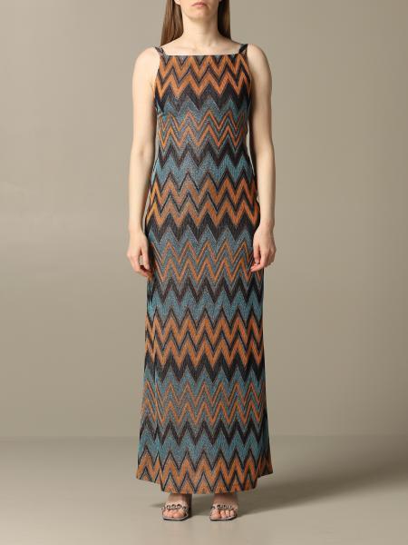 Robe longue M Missoni avec motif zig zag lurex
