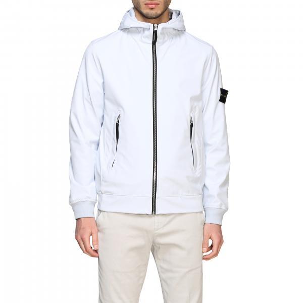 Stone Island soft shell light jacket with hood