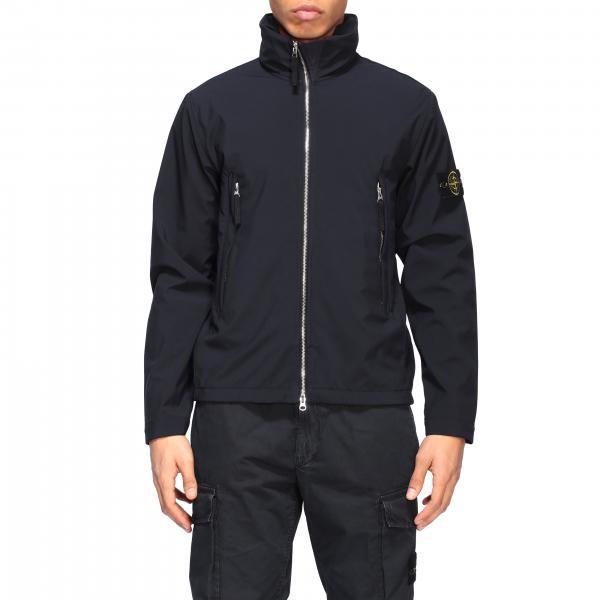 Stone Island soft shell jacket with removable hood