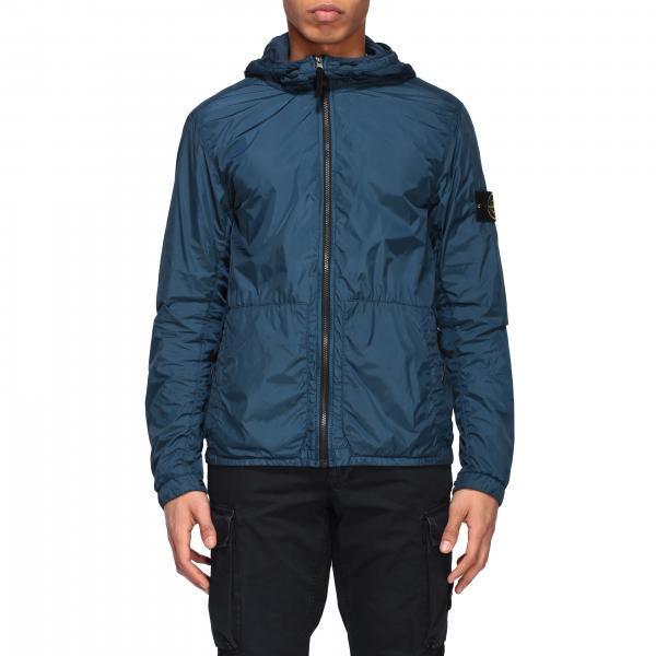 Giacca Crinkle garment dyed Stone Island con cappuccio