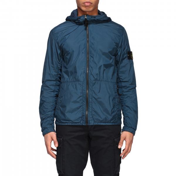 Stone Island crinkle garment hooded dyed jacket