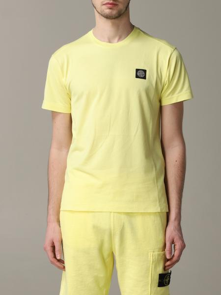 Stone Island crew neck t-shirt with logo