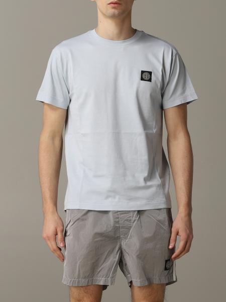 T-shirt Stone Island a girocollo con logo