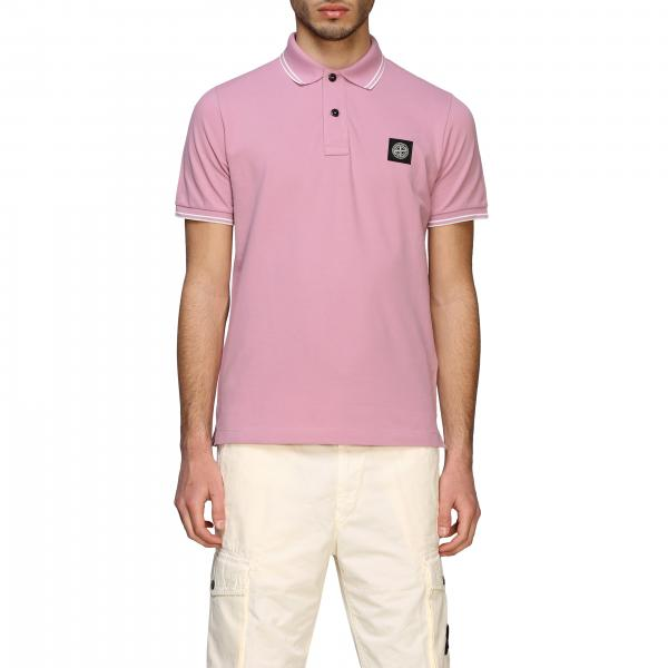 Stone Island short-sleeved polo shirt with logo