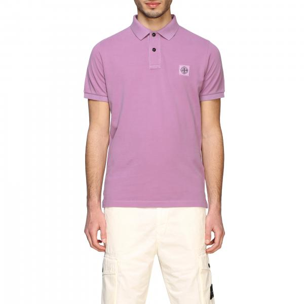 Stone Island short-sleeved polo shirt