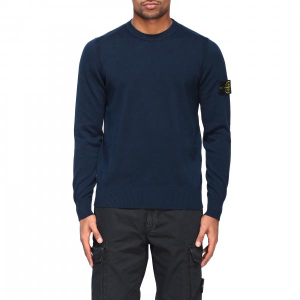 Stone Island crewneck sweater with logo