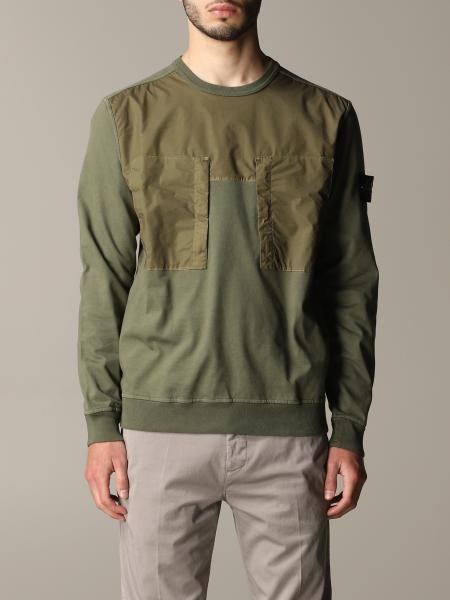 Stone Island crewneck sweatshirt with logo