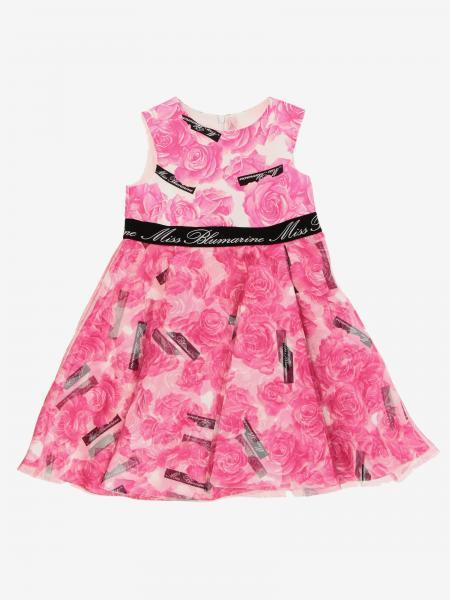 Miss Blumarine 玫瑰印花连衣裙