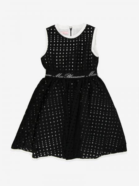 Perforated Miss Blumarine dress with logo