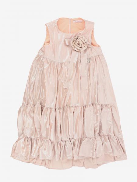 Miss Blumarine Lurex Kleid mit Blume