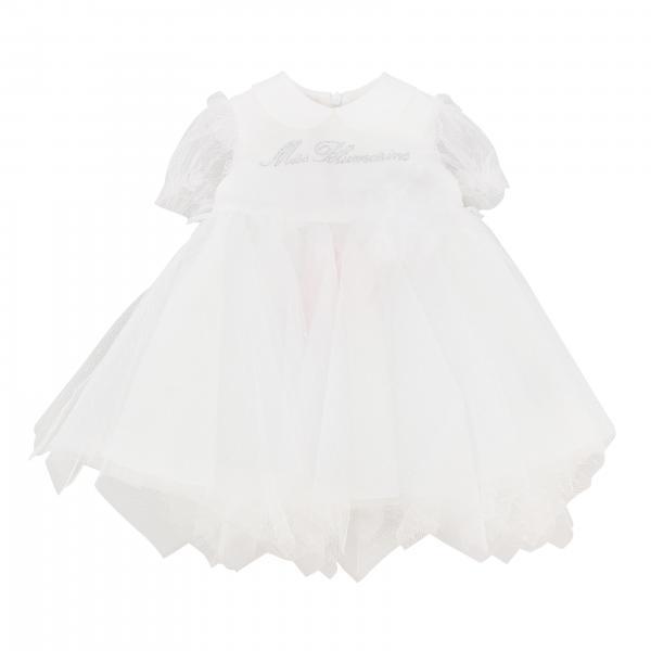 Miss Blumarine Tüll Kleid mit Strass-Logo
