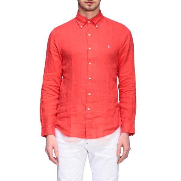 Polo Ralph Lauren linen shirt with button-down collar