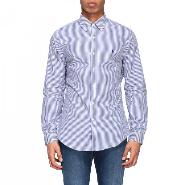 Camicia Polo Ralph Lauren in popeline con collo button down