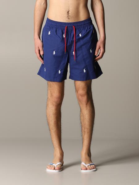 Costume a boxer Polo Ralph Lauren in nylon con logo all over