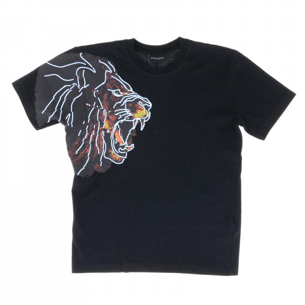 Marcelo Burlon short sleeve t-shirt with lion print