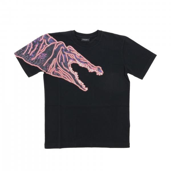 T-shirt Marcelo Burlon à manches courtes avec imprimé dinosaure
