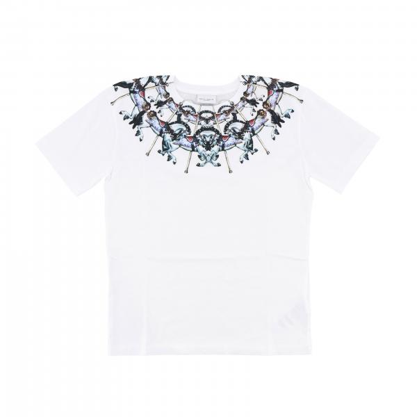 Marcelo Burlon short-sleeved T-shirt with neon carousel print