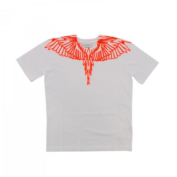 Marcelo Burlon short-sleeved T-shirt with neon feathers print