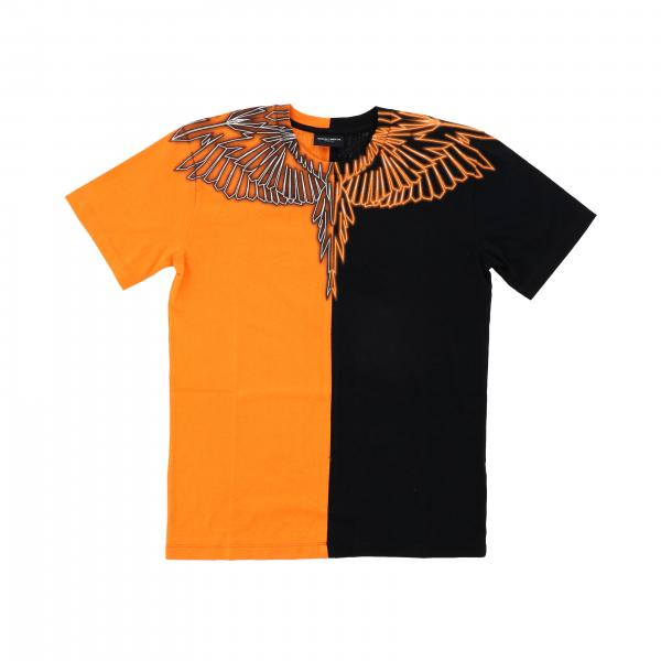 Marcelo Burlon short-sleeved T-shirt with bicolor feathers print