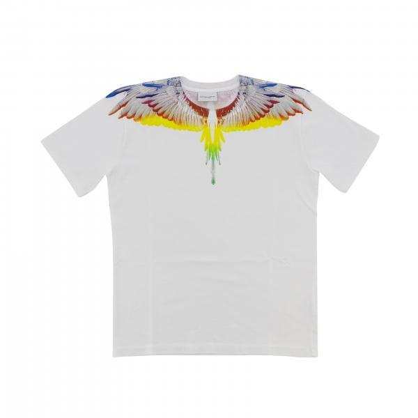 Marcelo Burlon T-Shirt mit mehrfarbigem Feder Print