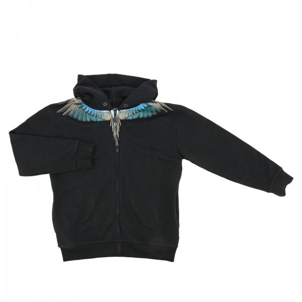 Marcelo Burlon hooded sweatshirt with feathers print