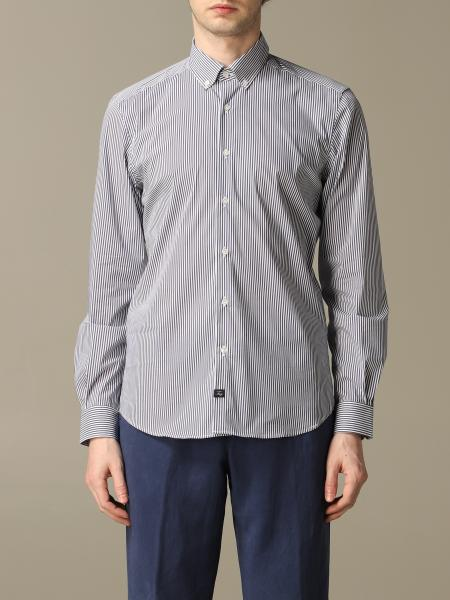 Fay button down shirt with micro stripes
