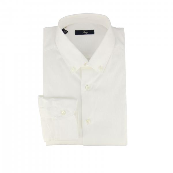 Classic Fay shirt with button-down collar