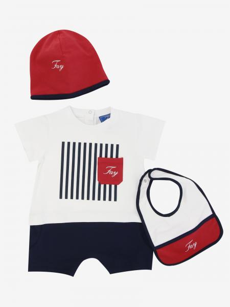 Fay onesie + bib + cap with logo set