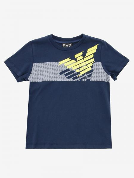 EA7 T-shirt with rubberized logo print