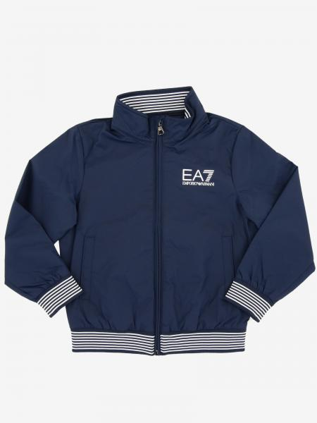 EA7 nylon bomber jacket with logo