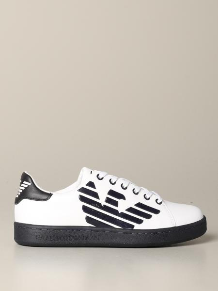 EA7 leather sneakers with logo