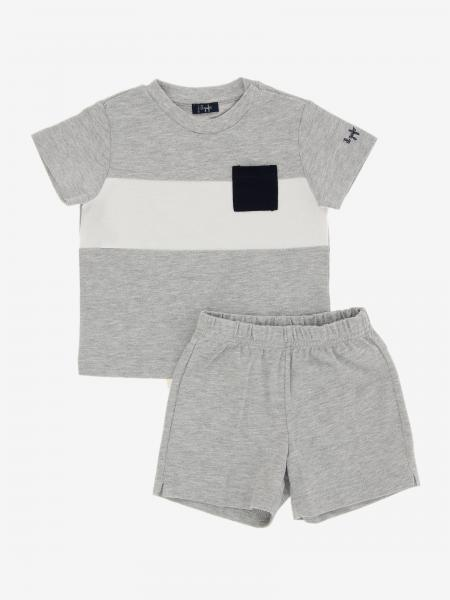 Il Gufo t-shirt + bermuda shorts set with contrasts