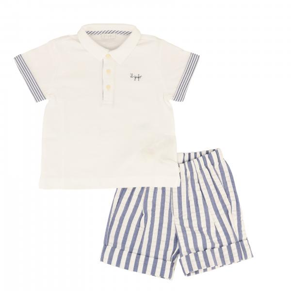 Il Gufo polo shirt + striped bermuda