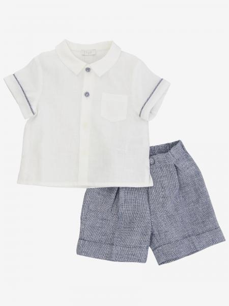 Il Gufo shirt + bermuda set in linen