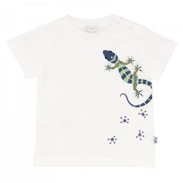 T-shirt Il Gufo a maniche corte con stampa geco