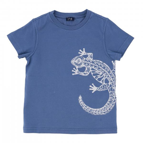 Il Gufo short-sleeved t-shirt with gecko print