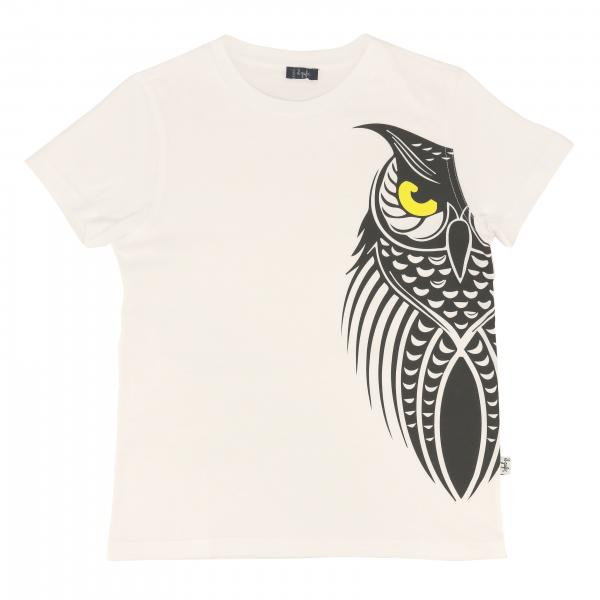 Il Gufo short-sleeved t-shirt with owl print