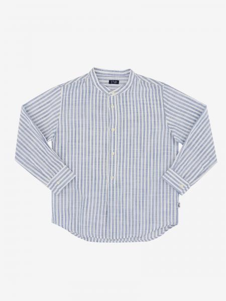 Il Gufo striped shirt with mandarin collar